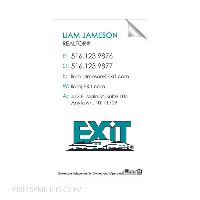 EXIT business card sticker sticker PixelsPrinted