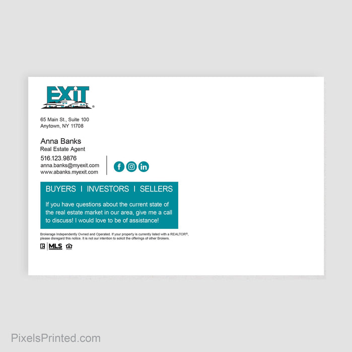 EXIT real estate postcards postcards PixelsPrinted