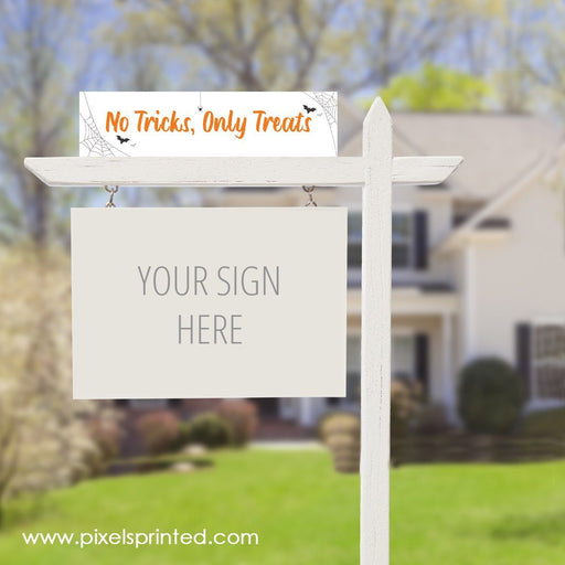 fun Halloween real estate sign riders PixelsPrinted