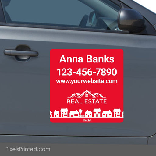 "Independent agent car magnets - 18""x18"" - a set of identical magnets PixelsPrinted"