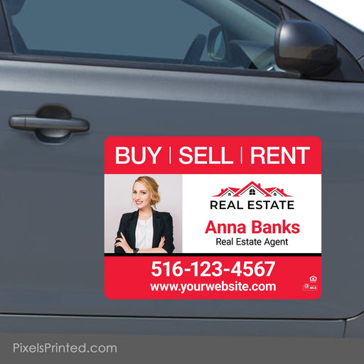 "Independent agent car magnets - 18""x24"" - a set of identical magnets PixelsPrinted"