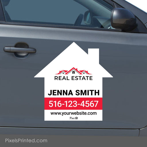 "Independent agent house shaped car magnets - 23""x23"" - a set of identical magnets PixelsPrinted"