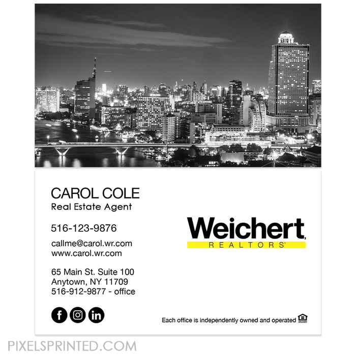 no photo WEICHERT business cards business cards PixelsPrinted