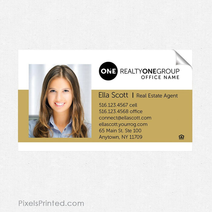 Realty ONE Group business card sticker sticker PixelsPrinted