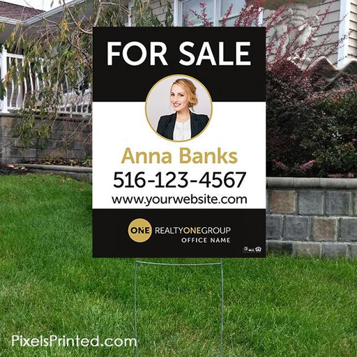 Realty ONE Group yard signs yard signs PixelsPrinted