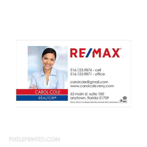 REMAX business card magnets business cards PixelsPrinted