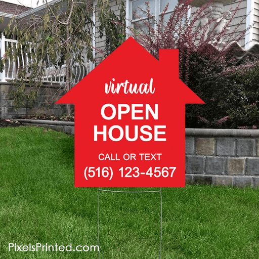 virtual open house yard sign yard signs PixelsPrinted