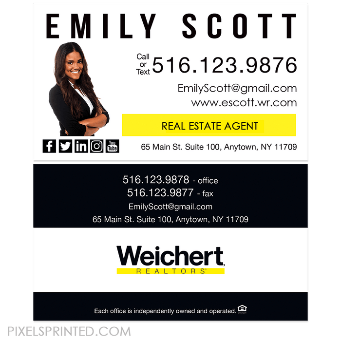 Weichert business cards business cards PixelsPrinted