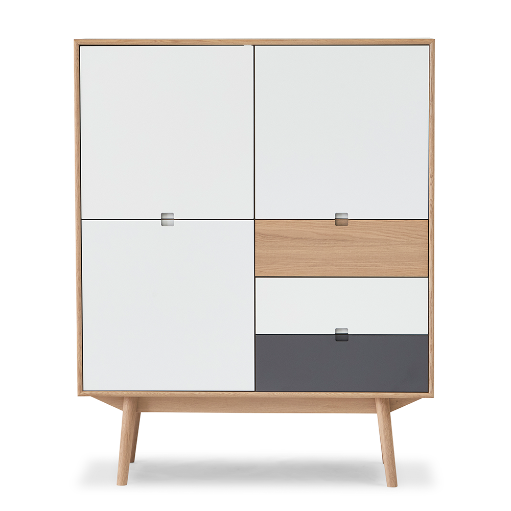 City Highboard 110 - 3 Doors and 3 Drawers