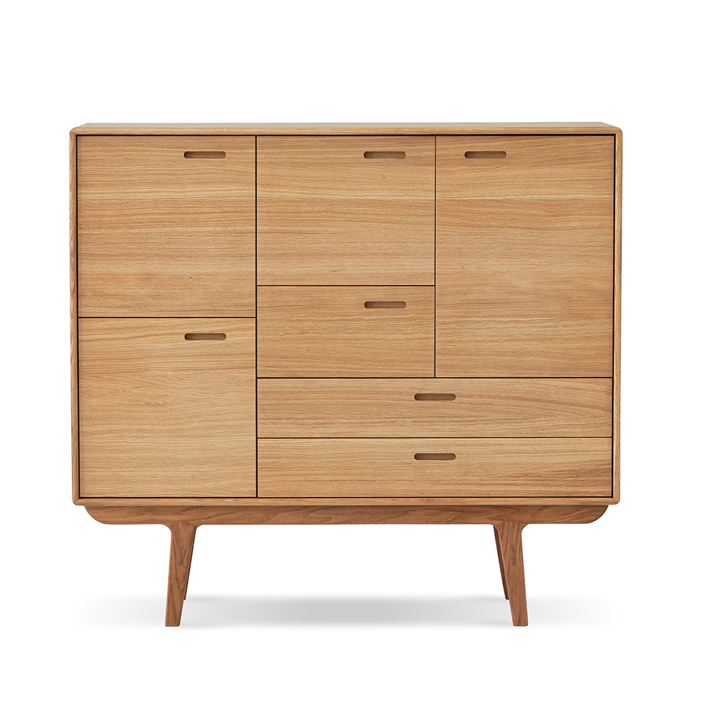Fifty Highboard 132 - 4 Doors and 3 Drawers