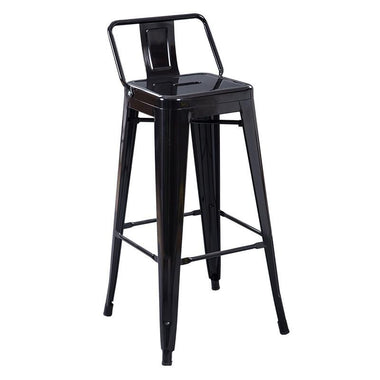 Industrial Stool with Low Back
