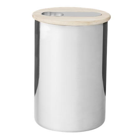 Scoop coffee canister with scoop