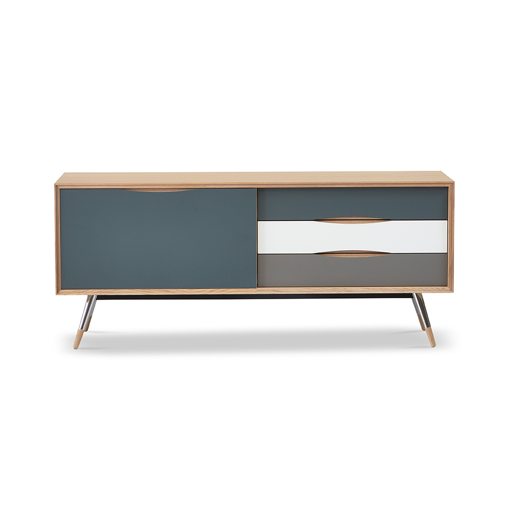 Stick Sideboard 170 - 1 Sliding Door and 3 Drawers