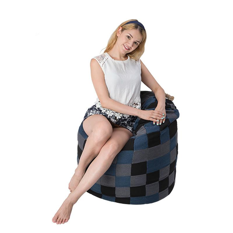 Checked Bean Bag