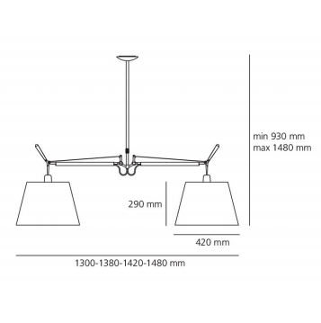 TOLOMEO BASCULANTE SUSPENSION 2 ARMS