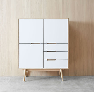 Curve Highboard 110 - 3 Doors and 3 Drawers