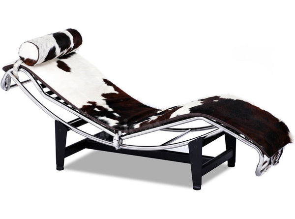 Le corbusier style lc4 chaise lounge pony skin for Chaise longue le corbusier vache