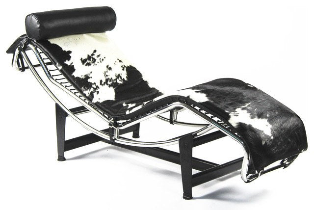 Le Corbusier Style LC4 Chaise Lounge Pony Skin