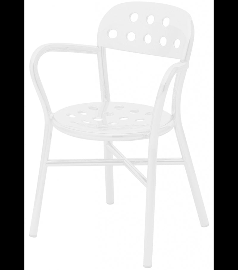 Magis Pipe stacking chair with arms