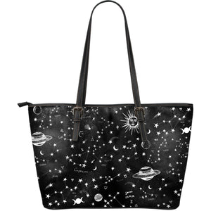 Astrology Map -  Big artificial leather bag