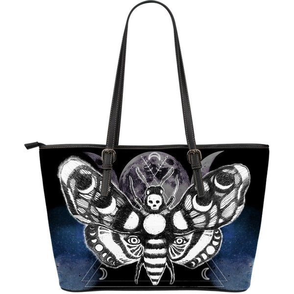 Moth head - Big artificial leather bag.