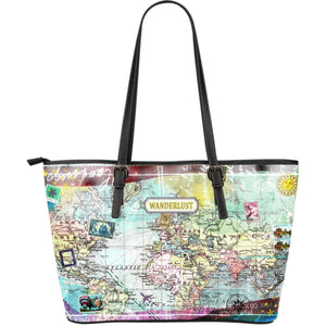 Wanderlust - Big artificial leather bag.