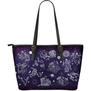 Zodiac Song - Big artificial leather bag.