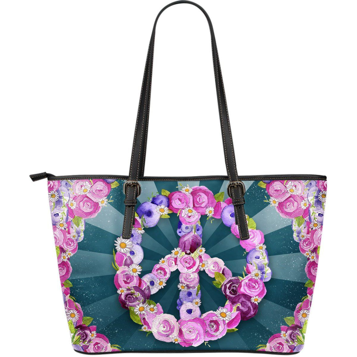 Peace n' Love - Big artificial leather bag.