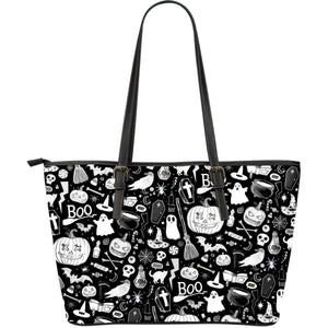 Spooky - Big artificial leather bag.