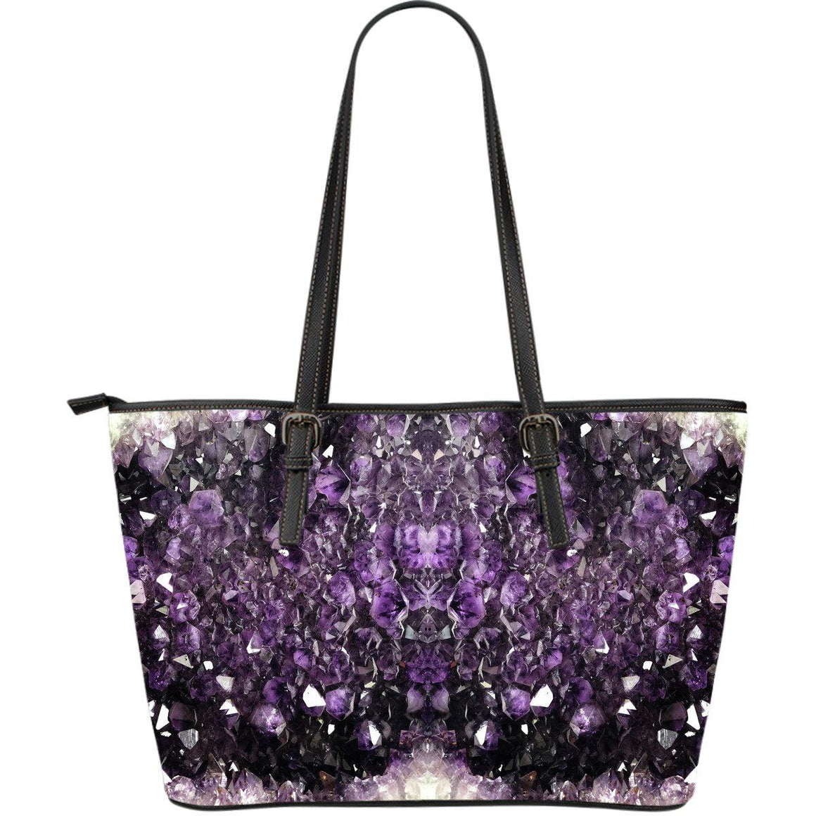 Amethyst Visions - Big artificial leather bag
