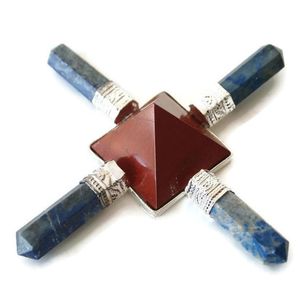Lapis and Red Jasper energy generator