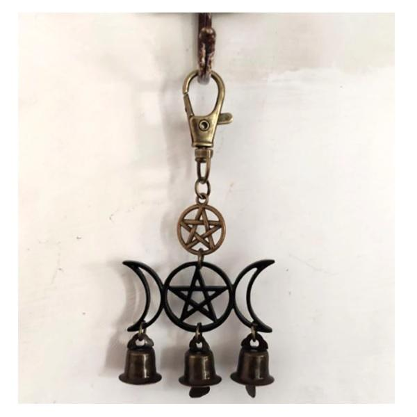 Triple Moon Pentacle Protection Bell