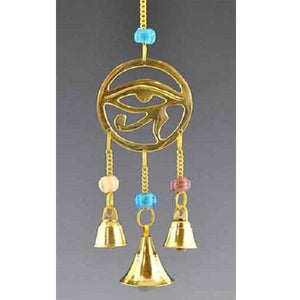 Egyptian Eye Brass Chime with Bead