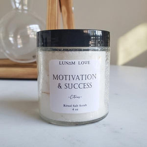 Motivation and Success Salt Scrub