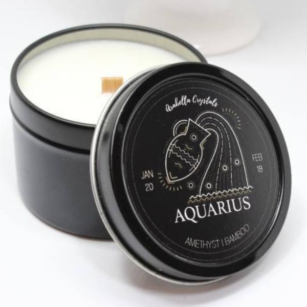 Aquarius Zodiac Candle - 4oz