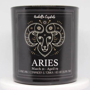 Aries Zodiac Candle