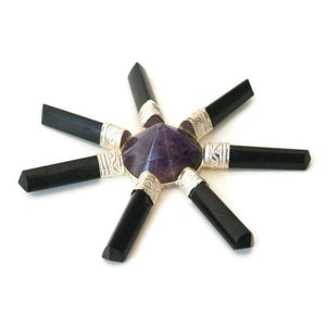 Black Tourmaline and Amethyst energy generator