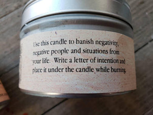 Banishing Intention Candle