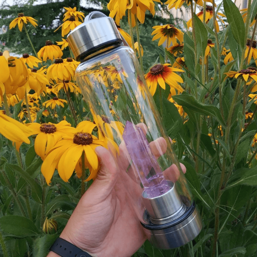 Healing Crystal Wands Water Bottle