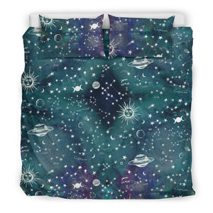 Astrology Map - Turquoise bedding set