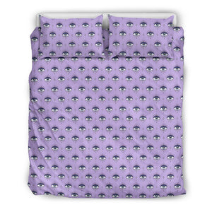 Third Eyes Purple Bedding Set