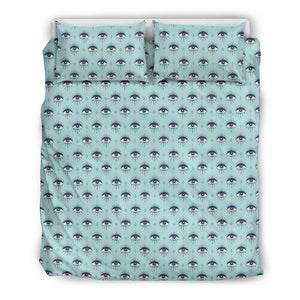 Third Eyes Turquoise Bedding Set