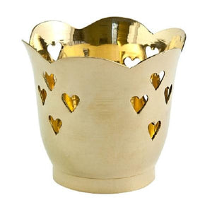 Heart Brass Votive Holder