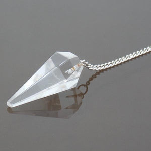 Clear Crystal 6 facet pendulums
