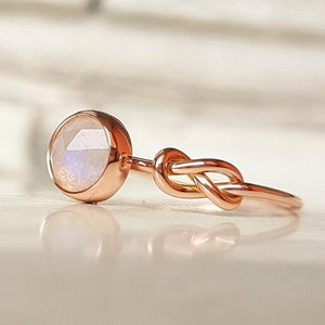 Pink Crystal Moonstone Ring