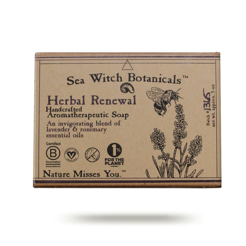 Artisan Soap: Herbal Renewal - Purple Haze - Lavender