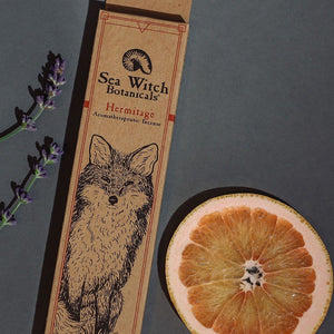 All-Natural Incense: Hermitage - with Patchouli, Pink Grapefruit Essential Oils