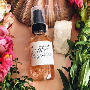 Rose Quartz Crystal Elixir - Gemstone Infused Body Oil