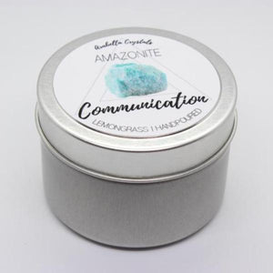 Amazonite Crystal Candle - 4oz