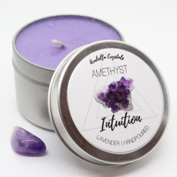Amethyst Crystal Candle - 4oz